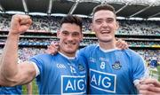 17 September 2017; Dublin's Diarmuid Connolly, left, and Brian Fenton celebrate after the GAA Football All-Ireland Senior Championship Final match between Dublin and Mayo at Croke Park in Dublin. Photo by Ray McManus/Sportsfile