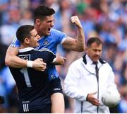 17 September 2017; Stephen Cluxton, left, and Diarmuid Connolly of Dublin celebrates at the final whistle following the GAA Football All-Ireland Senior Championship Final match between Dublin and Mayo at Croke Park in Dublin. Photo by Stephen McCarthy/Sportsfile