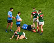 17 September 2017; Donal Vaughan of Mayo strikes John Small of Dublin, which resulted in Vaughan getting a red card during the GAA Football All-Ireland Senior Championship Final match between Dublin and Mayo at Croke Park in Dublin. Photo by Daire Brennan/Sportsfile
