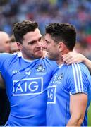 17 September 2017; Paddy Andrews, left, and Bernard Brogan of Dublin celebrate following the GAA Football All-Ireland Senior Championship Final match between Dublin and Mayo at Croke Park in Dublin. Photo by Sam Barnes/Sportsfile