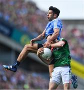 17 September 2017; Kevin McLoughlin of Mayo is tackled by Cian O'Sullivan of Dublin during the GAA Football All-Ireland Senior Championship Final match between Dublin and Mayo at Croke Park in Dublin. Photo by Ramsey Cardy/Sportsfile