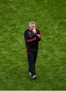 17 September 2017; A dejected Mayo manager Stephen Rochford after the GAA Football All-Ireland Senior Championship Final match between Dublin and Mayo at Croke Park in Dublin. Photo by Daire Brennan/Sportsfile