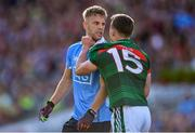 17 September 2017; Jonny Cooper of Dublin and Andy Moran of Mayo tussle off the ball during the GAA Football All-Ireland Senior Championship Final match between Dublin and Mayo at Croke Park in Dublin. Photo by Sam Barnes/Sportsfile