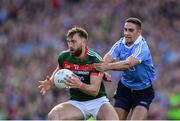 17 September 2017; Aidan O'Shea of Mayo in action against James McCarthy of Dublin during the GAA Football All-Ireland Senior Championship Final match between Dublin and Mayo at Croke Park in Dublin. Photo by Sam Barnes/Sportsfile