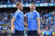 17 September 2017; Jonny Cooper, left, and Philip McMahon of Dublin celebrate after the GAA Football All-Ireland Senior Championship Final match between Dublin and Mayo at Croke Park in Dublin. Photo by Brendan Moran/Sportsfile