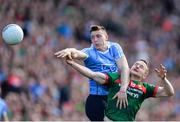 17 September 2017; John Small of Dublin in action against Andy Moran of Mayo during the GAA Football All-Ireland Senior Championship Final match between Dublin and Mayo at Croke Park in Dublin. Photo by Sam Barnes/Sportsfile