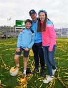 17 September 2017; Dublin manager Jim Gavin with his children Jude and Jasmine after after the GAA Football All-Ireland Senior Championship Final match between Dublin and Mayo at Croke Park in Dublin. Photo by Seb Daly/Sportsfile