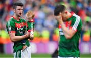 17 September 2017; Brendan Harrison of Mayo with his son Fionn after the GAA Football All-Ireland Senior Championship Final match between Dublin and Mayo at Croke Park in Dublin. Photo by Brendan Moran/Sportsfile