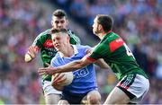 17 September 2017; Con O'Callaghan of Dublin is tackled by Keith Higgins of Mayo during the GAA Football All-Ireland Senior Championship Final match between Dublin and Mayo at Croke Park in Dublin. Photo by Ramsey Cardy/Sportsfile