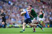 17 September 2017; Kevin McManamon of Dublin in action against Stephen Coen of Mayo during the GAA Football All-Ireland Senior Championship Final match between Dublin and Mayo at Croke Park in Dublin. Photo by Ramsey Cardy/Sportsfile