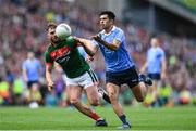17 September 2017; Cian O'Sullivan of Dublin in action against Aidan O'Shea of Mayo during the GAA Football All-Ireland Senior Championship Final match between Dublin and Mayo at Croke Park in Dublin. Photo by Ramsey Cardy/Sportsfile