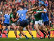 17 September 2017; Brendan Harrison of Mayo and Cormac Costello of Dublin during the GAA Football All-Ireland Senior Championship Final match between Dublin and Mayo at Croke Park in Dublin. Photo by Brendan Moran/Sportsfile