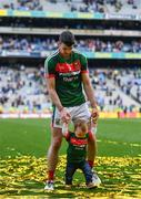 17 September 2017; Brendan Harrison of Mayo with his son Fionn after the GAA Football All-Ireland Senior Championship Final match between Dublin and Mayo at Croke Park in Dublin. Photo by Ramsey Cardy/Sportsfile