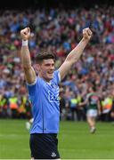 17 September 2017; Dublin's Diarmuid Connolly celebrates at the final whistle in the GAA Football All-Ireland Senior Championship Final match between Dublin and Mayo at Croke Park in Dublin. Photo by Ray McManus/Sportsfile