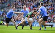 17 September 2017; Jason Doherty of Mayo is surrounded by Dublin players, from left, John Small, Ciarán Kilkenny, Jonny Cooper and Michael Fitzsimons during the GAA Football All-Ireland Senior Championship Final match between Dublin and Mayo at Croke Park in Dublin. Photo by Ray McManus/Sportsfile