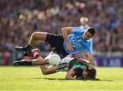 17 September 2017; James McCarthy of Dublin in action against Tom Parsons of Mayo during the GAA Football All-Ireland Senior Championship Final match between Dublin and Mayo at Croke Park in Dublin. Photo by Ray McManus/Sportsfile