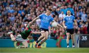 17 September 2017; Con O'Callaghan of Dublin evades the tackle of Colm Boyle of Mayo on his way to scoring his side's goal in the first minute of the GAA Football All-Ireland Senior Championship Final match between Dublin and Mayo at Croke Park in Dublin. Photo by Ray McManus/Sportsfile
