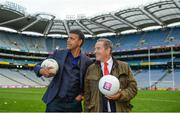 18 September 2017; Chris Kamara and Jeff Stelling in Croke Park following the match. Watch Jeff Stelling and Chris Kamara commentate on the All-Ireland Football Final in the final episode of AIB's Jeff & Kammy's Journey to Croker airing on www.youtube.com/AIB at 5pm on Monday 25th September. For exclusive content and behind the scenes action follow AIB GAA on Facebook, Twitter, Instagram and Snapchat. Photo by Cody Glenn/Sportsfile