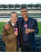 18 September 2017; Jeff Stelling and Chris Kamara in Croke Park following the match. Watch Jeff Stelling and Chris Kamara commentate on the All-Ireland Football Final in the final episode of AIB's Jeff & Kammy's Journey to Croker airing on www.youtube.com/AIB at 5pm on Monday 25th September. For exclusive content and behind the scenes action follow AIB GAA on Facebook, Twitter, Instagram and Snapchat. Photo by Cody Glenn/Sportsfile