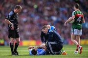 17 September 2017; Jack McCaffrey of Dublin is treated for an injury during the GAA Football All-Ireland Senior Championship Final match between Dublin and Mayo at Croke Park in Dublin. Photo by Stephen McCarthy/Sportsfile