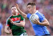 17 September 2017; Con O'Callaghan of Dublin in action against Colm Boyle of Mayo during the GAA Football All-Ireland Senior Championship Final match between Dublin and Mayo at Croke Park in Dublin. Photo by Stephen McCarthy/Sportsfile