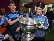 18 September 2017; Dublin players Evan Comerford, left, and Eoin Murchan pictured with the Sam Maguire Cup during the All-Ireland Senior Football Champions visit to Our Lady's Children's Hospital in Crumlin, Dublin. Photo by David Fitzgerald/Sportsfile