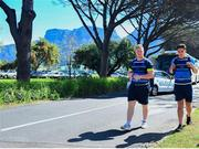 18 September 2017; James Tracy, left, and Joey Carbery arrive for Leinster Rugby Squad Training at Bishops in Cape Town, South Africa. Photo by Grant Pitcher/Sportsfile