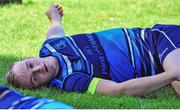 18 September 2017; Nick McCarthy stretches during Leinster Rugby Squad Training at Bishops in Cape Town, South Africa. Photo by Grant Pritcher/Sportsfile