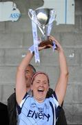 1 July 2012; Dublin captain Aimee Hazley lifts the cup. Aisling McGing Memorial Championship Final, Kerry v Dublin, McDonagh Park, Nenagh, Co. Tipperary. Picture credit: Ray Lohan / SPORTSFILE
