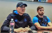 18 September 2017; Girvan Dempsey, Leinster Backs Coach, left and Ross Byrne, during the Leinster Press Conference at Southern Sun Waterfront Hotel in Cape Town, South Africa. Photo by Grant Pitcher/Sportsfile