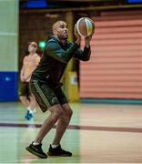 18 September 2017; Simon Zebo of Munster practices his basketball skills before Munster Rugby Squad Training at the University of Limerick in Limerick. Photo by Diarmuid Greene/Sportsfile