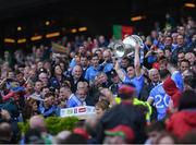 17 September 2017; Paddy Andrews of Dublin lifts the Sam Maguire Cup following the GAA Football All-Ireland Senior Championship Final match between Dublin and Mayo at Croke Park in Dublin. Photo by Stephen McCarthy/Sportsfile