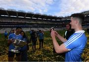 17 September 2017; Brian Fenton takes a picture of this Dublin team-mate Cian O'Sullivan following the GAA Football All-Ireland Senior Championship Final match between Dublin and Mayo at Croke Park in Dublin. Photo by Stephen McCarthy/Sportsfile