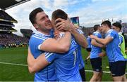 17 September 2017; Dublin's Paddy Andrews, left, and Con O'Callaghan celebrate following the GAA Football All-Ireland Senior Championship Final match between Dublin and Mayo at Croke Park in Dublin. Photo by Ramsey Cardy/Sportsfile