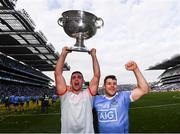 17 September 2017; James McCarthy, left, and Kevin McManamon of Dublin celebrate with the Sam Maguire Cup following the GAA Football All-Ireland Senior Championship Final match between Dublin and Mayo at Croke Park in Dublin. Photo by Stephen McCarthy/Sportsfile