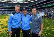 17 September 2017; Dublin manager Jim Gavin with selector Declan Darcy, left, and Jason Sherlock, right, forwards coach, after the GAA Football All-Ireland Senior Championship Final match between Dublin and Mayo at Croke Park in Dublin. Photo by Ray McManus/Sportsfile