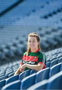 19 September 2017; The LGFA joined TG4 to call on all Proper Fans to come to Croke Park on Sunday for the TG4 The TG4 Ladies All Ireland Football Finals. Tickets are available now on www.tickets.ie or from usual GAA outlets. The action will begin at 11:45pm when Derry and Fermanagh contest the TG4 Junior All Ireland Final, this will be followed by the meeting of Tipperary and Tyrone at 1:45pm and then Dublin and Mayo will contest the TG4 Senior Championship Final at 4:00pm with the Brendan Martin Cup at stake. Pictured at the media day is Mayo's Sarah Tierney. Photo by Ramsey Cardy/Sportsfile