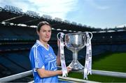 19 September 2017; The LGFA joined TG4 to call on all Proper Fans to come to Croke Park on Sunday for the TG4 The TG4 Ladies All Ireland Football Finals. Tickets are available now on www.tickets.ie or from usual GAA outlets. The action will begin at 11:45pm when Derry and Fermanagh contest the TG4 Junior All Ireland Final, this will be followed by the meeting of Tipperary and Tyrone at 1:45pm and then Dublin and Mayo will contest the TG4 Senior Championship Final at 4:00pm with the Brendan Martin Cup at stake. Pictured at the media day is Dublin's Sinead Aherne. Photo by Ramsey Cardy/Sportsfile