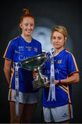 19 September 2017; The LGFA joined TG4 to call on all Proper Fans to come to Croke Park on Sunday for the TG4 The TG4 Ladies All Ireland Football Finals. Tickets are available now on www.tickets.ie or from usual GAA outlets. The action will begin at 11:45pm when Derry and Fermanagh contest the TG4 Junior All Ireland Final, this will be followed by the meeting of Tipperary and Tyrone at 1:45pm and then Dublin and Mayo will contest the TG4 Senior Championship Final at 4:00pm with the Brendan Martin Cup at stake. Pictured at the media day are Aishling Moloney, left, and Samantha Lambert of Tipperary. Photo by Sam Barnes/Sportsfile