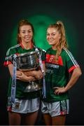 19 September 2017; The LGFA joined TG4 to call on all Proper Fans to come to Croke Park on Sunday for the TG4 The TG4 Ladies All Ireland Football Finals. Tickets are available now on www.tickets.ie or from usual GAA outlets. The action will begin at 11:45pm when Derry and Fermanagh contest the TG4 Junior All Ireland Final, this will be followed by the meeting of Tipperary and Tyrone at 1:45pm and then Dublin and Mayo will contest the TG4 Senior Championship Final at 4:00pm with the Brendan Martin Cup at stake. Pictured at the media day are Sarah Tierney, left, and Sarah Rowe of Mayo. Photo by Sam Barnes/Sportsfile