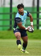 19 September 2017; Bundee Aki of Connacht during squad training at the Sportsground in Galway. Photo by Seb Daly/Sportsfile