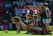17 September 2017; Lee Keegan of Mayo breaks from the team photo ahead of the GAA Football All-Ireland Senior Championship Final match between Dublin and Mayo at Croke Park in Dublin. Photo by Sam Barnes/Sportsfile