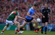 17 September 2017; Con O'Callaghan of Dublin in action against Colm Boyle of Mayo, on his way to scoring his sides first goal during the GAA Football All-Ireland Senior Championship Final match between Dublin and Mayo at Croke Park in Dublin. Photo by Sam Barnes/Sportsfile