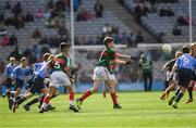 17 September 2017; Michael Henry, St. Oliver Plunkett B.N.S., Moate, Co Westmeath, representing Mayo, during the INTO Cumann na mBunscol GAA Respect Exhibition Go Games at Dublin v Mayo GAA Football All-Ireland Senior Championship Final at Croke Park in Dublin. Photo by Ray McManus/Sportsfile