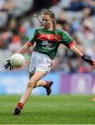17 September 2017; Sophie Daly, Annagh NS, Miltown Malbay, Co. Clare, representing Mayo, during the INTO Cumann na mBunscol GAA Respect Exhibition Go Games at Dublin v Mayo GAA Football All-Ireland Senior Championship Final at Croke Park in Dublin. Photo by Piaras Ó Mídheach/Sportsfile