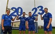 20 September 2017; In attendance at the Bank of Ireland and Leinster Rugby sponsorship announcement are, from left; Sophie Spence, Rob Kearney, Sean O'Brien and  Robbie Henshaw. Bank of Ireland and Leinster Rugby have today announced a five year extension of their sponsorship through to the 2023 season. The event was held in Tullow RFC, Tullow are the current holders of the Bank of Ireland Provincial Towns Cup. In addition to exclusive branding of all playing and training kits for the Leinster Rugby professional team, the sponsorship continues to encompass all Leinster rugby activity right through to grassroots community, schools and club level. Photo by Brendan Moran/Sportsfile