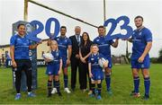 20 September 2017; In attendance at the Bank of Ireland and Leinster Rugby sponsorship announcement are, from left; Sophie Spence, Roisin Kinch, age 9, Tullow, Co. Carlow, Rob Kearney, Phil Lawlor, Head of Domestic Rugby, Leinster Rugby, Gemma Bell, Sponsorship Manager, Bank of Ireland, Sean O'Brien, Will O'Toole, age 7, Tullow, Co. Carlow, and Robbie Henshaw. Bank of Ireland and Leinster Rugby have today announced a five year extension of their sponsorship through to the 2023 season. The event was held in Tullow RFC, Tullow are the current holders of the Bank of Ireland Provincial Towns Cup. In addition to exclusive branding of all playing and training kits for the Leinster Rugby professional team, the sponsorship continues to encompass all Leinster rugby activity right through to grassroots community, schools and club level. Photo by Brendan Moran/Sportsfile