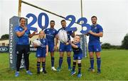 20 September 2017; In attendance at the Bank of Ireland and Leinster Rugby sponsorship announcement are, from left; Sophie Spence, Roisin Kinch, age 9, Tullow, Rob Kearney, Sean O'Brien, Will O'Toole, age 7, Tullow, and Robbie Henshaw. Bank of Ireland and Leinster Rugby have today announced a five year extension of their sponsorship through to the 2023 season. The event was held in Tullow RFC, Tullow are the current holders of the Bank of Ireland Provincial Towns Cup. In addition to exclusive branding of all playing and training kits for the Leinster Rugby professional team, the sponsorship continues to encompass all Leinster rugby activity right through to grassroots community, schools and club level. Photo by Brendan Moran/Sportsfile