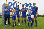 20 September 2017; In attendance at the Bank of Ireland and Leinster Rugby sponsorship announcement are, from left; Sophie Spence, Roisin Kinch, age 9, Tullow, Co. Carlow, Rob Kearney, Sean O'Brien, Will O'Toole, age 7, Tullow, Co. Carlow, and Robbie Henshaw. Bank of Ireland and Leinster Rugby have today announced a five year extension of their sponsorship through to the 2023 season. The event was held in Tullow RFC, Tullow are the current holders of the Bank of Ireland Provincial Towns Cup. In addition to exclusive branding of all playing and training kits for the Leinster Rugby professional team, the sponsorship continues to encompass all Leinster rugby activity right through to grassroots community, schools and club level. Photo by Brendan Moran/Sportsfile