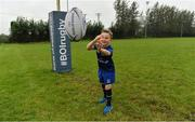 20 September 2017; In attendance at the Bank of Ireland and Leinster Rugby sponsorship announcement is Will O'Toole, age 7, from Tullow, Co. Carlow, and nephew of Sean O'Brien. Bank of Ireland and Leinster Rugby have today announced a five year extension of their sponsorship through to the 2023 season. The event was held in Tullow RFC, Tullow are the current holders of the Bank of Ireland Provincial Towns Cup. In addition to exclusive branding of all playing and training kits for the Leinster Rugby professional team, the sponsorship continues to encompass all Leinster rugby activity right through to grassroots community, schools and club level. Photo by Brendan Moran/Sportsfile